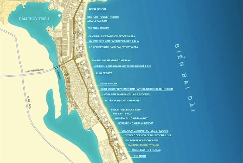 vị trí dự án biệt thự biển cam ranh