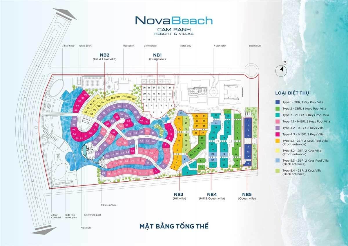 mặt bằng nova beach cam ranh resort villas