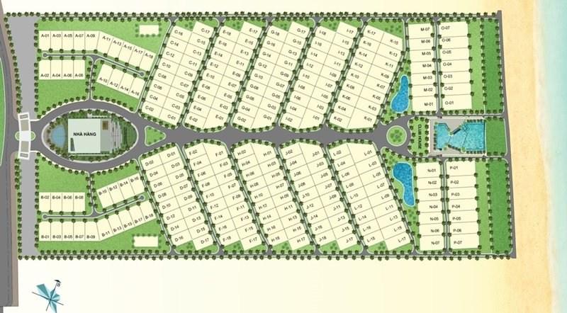 mặt bằng tổng thể Cam Ranh Mystery Villas