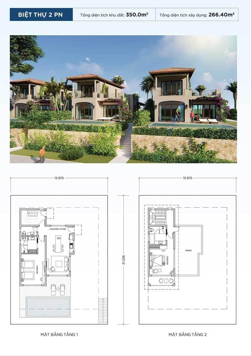 thiết kế biệt thự nova beach cam ranh resort villas