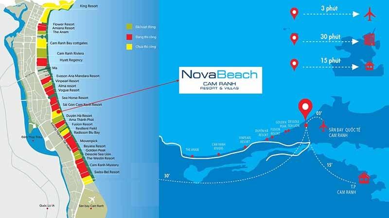 vị trí nova beach cam ranh