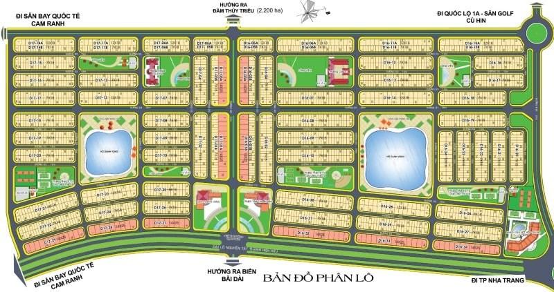 bản đồ phân lô golden bay cam ranh