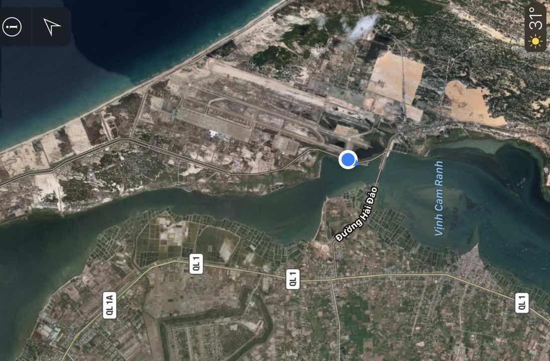 vị trí dự án cam ranh city gate