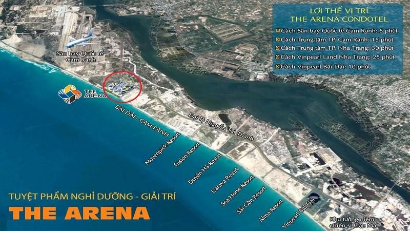 vị trí dự án the arena cam ranh