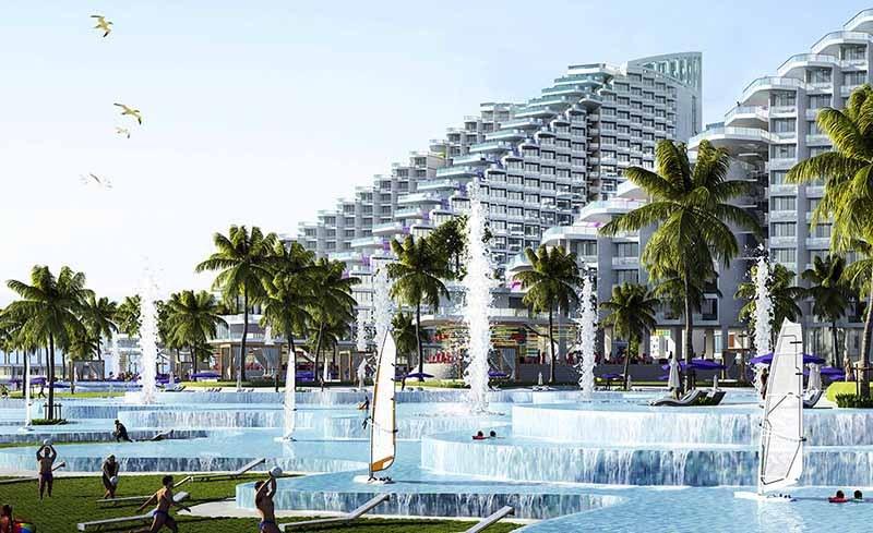bể bơi nước ngọt hiện đại
