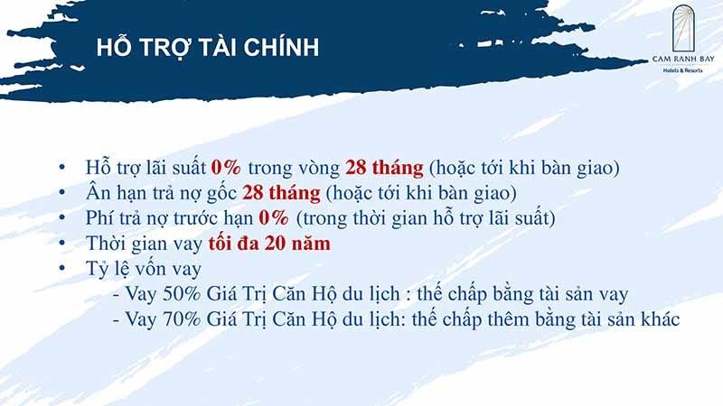 Hỗ trợ tài chính Cam Ranh Bays