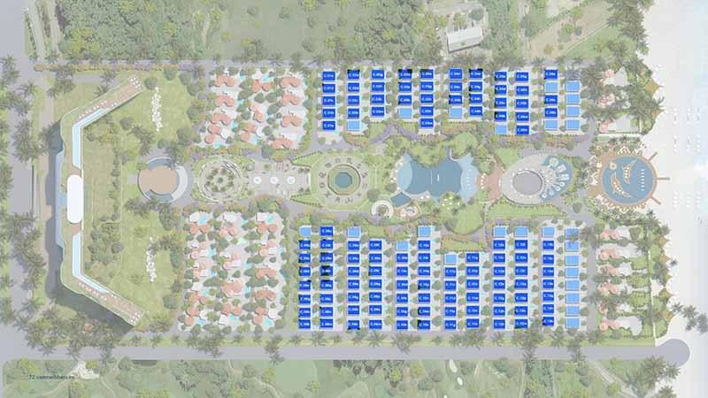 Mặt bằng biệt thự dự án Cam Ranh Bay Resort