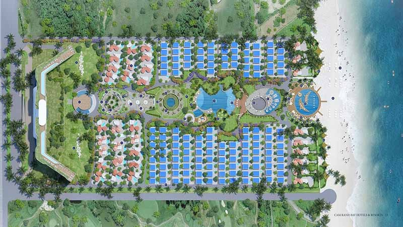 mặt bằng tổng thể cam ranh bay resort hotel