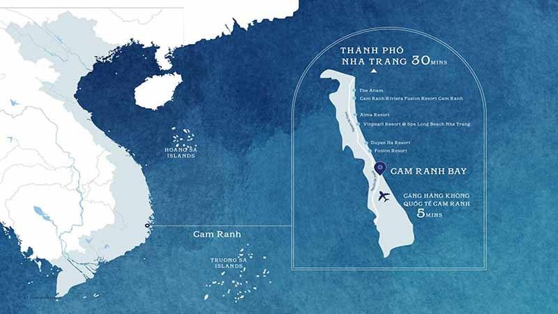Vị trí Cam Ranh Bay Resort