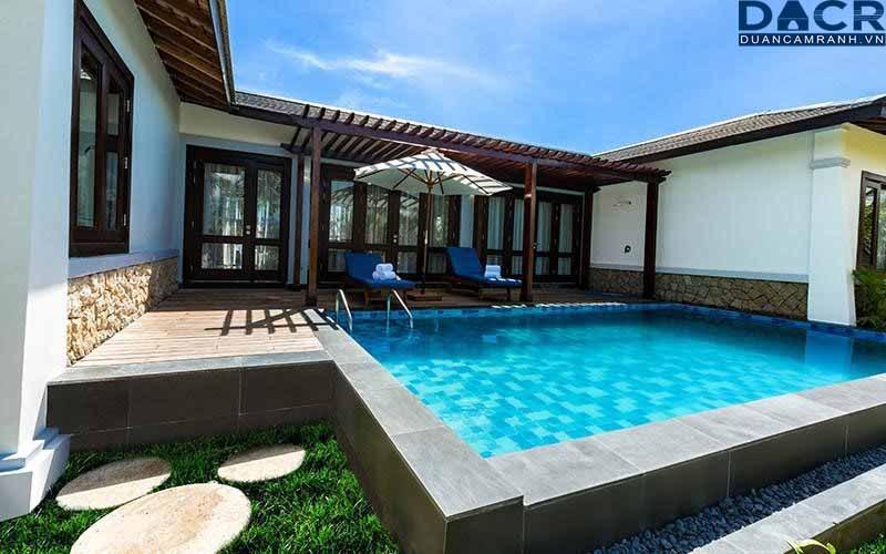 biệt thự có hồ bơi tại duyên hà resort cam ranh