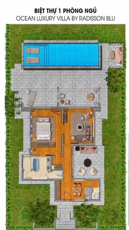 Biệt Thự 1 Phòng Ngủ Ocean Luxury Villa Radisson Blu