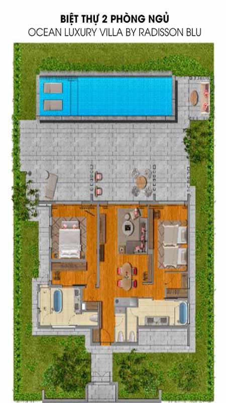 Biệt Thự 2 Phòng Ngủ Ocean Luxury Villa Radisson Blu