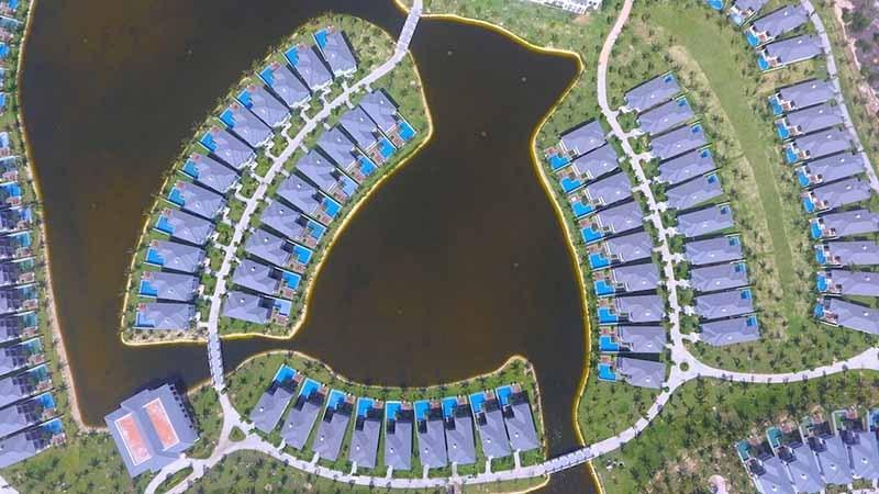 ảnh chụp từ trên xuống dự án vinpearl cam ranh resort