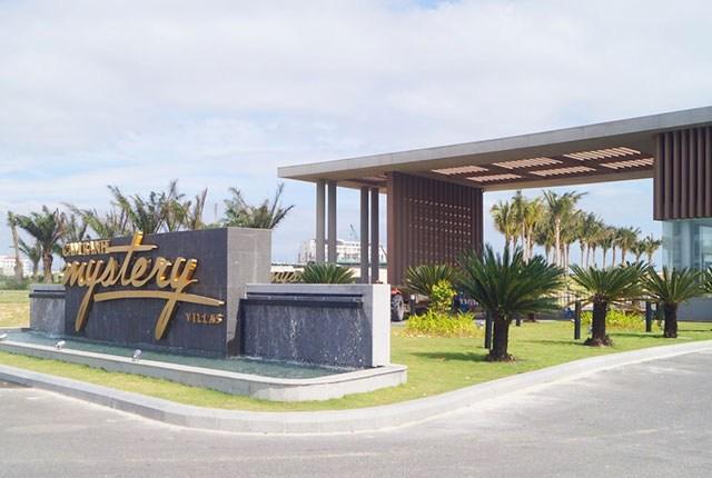 khu cảnh quan đài nước mặt tiền dự án Cam Ranh Mystery Villas