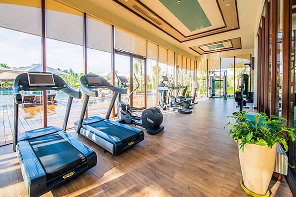 Phòng Tập đầy đủ Trang Thiết Bị Hiện đại Tại Fussion Resort Cam Ranh