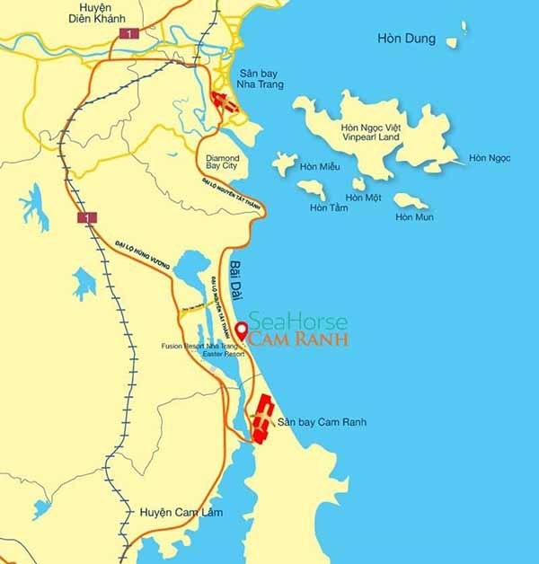 Vị Trí Sea Horse Cam Ranh Resort