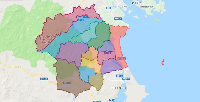 Bản đồ Huyện Cam Lâm Khánh Hòa Trên Google Maps