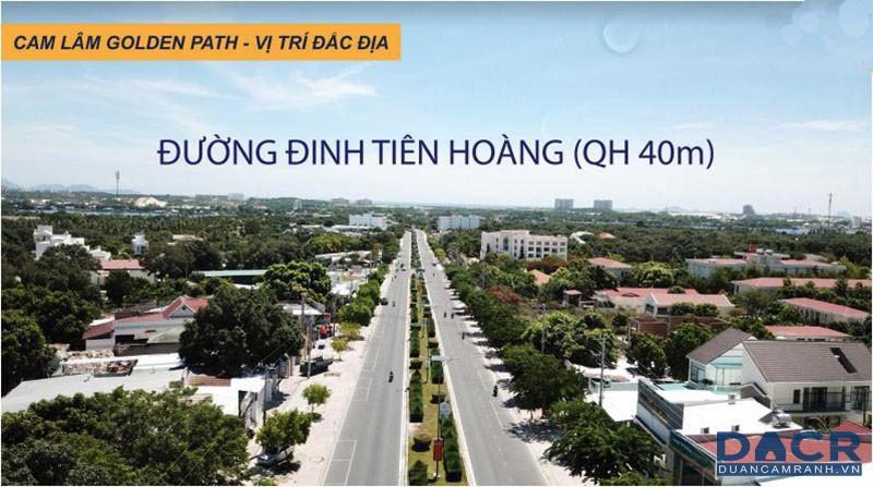 Đường Đinh Tiên Hoàng Lộ Giới 40m