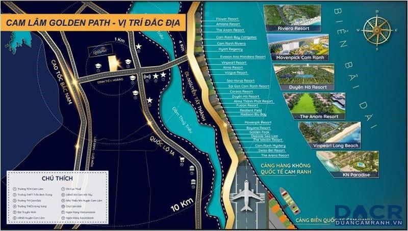 Vị Trí Cam Lâm Golden Path