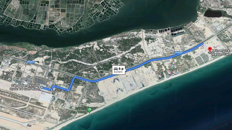 Movenpick Resort Cam Ranh đến sân bay Cam Ranh