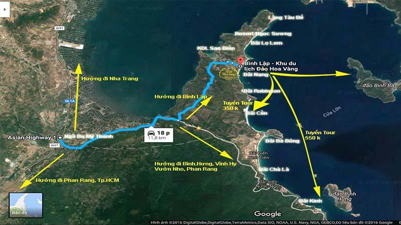 Vị trí Đảo Hoa Vàng Villa