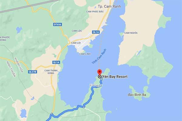 Vị trí Ngọc Sương Resort Cam Ranh