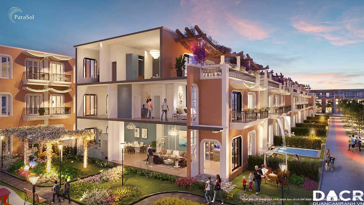 Mặt cắt Unique Villa - Para Sol