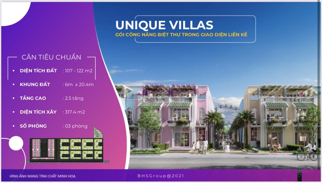 Mẫu biệt thự Unique Villas tại ParaSol Cam Ranh