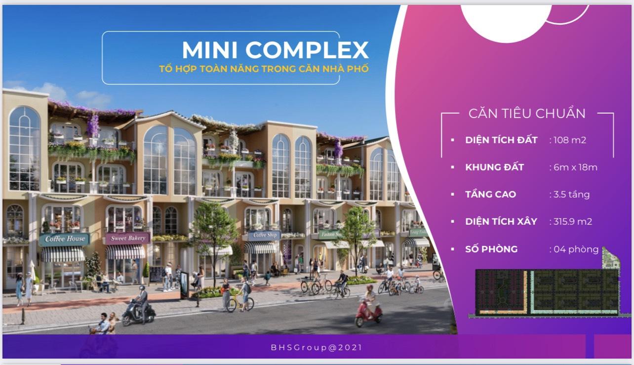Mẫu nhà Mini Complex tại dự án Para Sol Cam Ranh